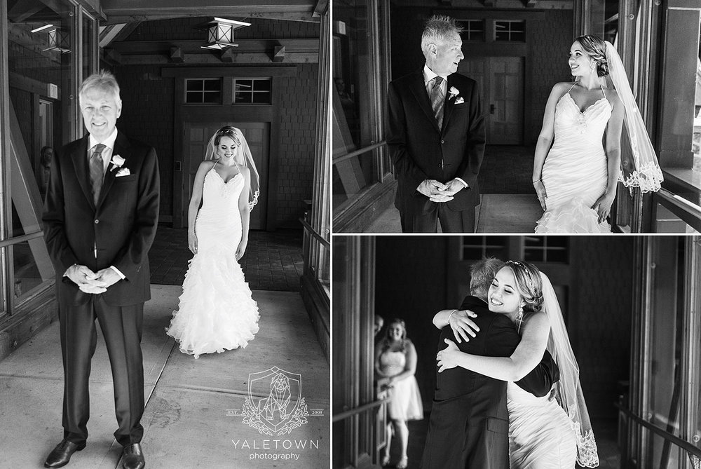 One of the most heart-felt moments was when Stephanie planned a first look with her Dad, which was followed by a short hand holding time with Stephen before the ceremony (no peaking, of course:)