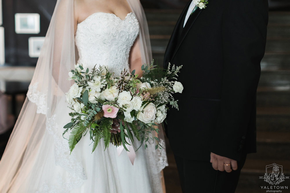 Bride-Groom-Bridal-Gown-Suit-Bouquet-Rosewood-Hotel-Georgia-Vancouver-Wedding-Yaletown-Photography-photo