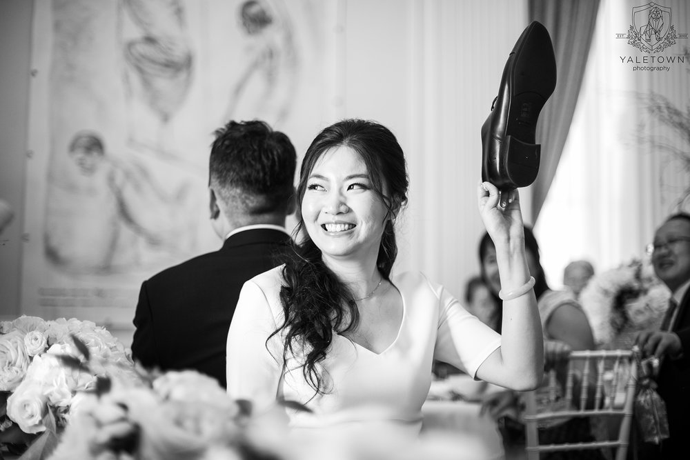 Wedding-Reception-Bride-Groom-Shoe-Game-Rosewood-Hotel-Georgia-Vancouver-Wedding-Yaletown-Photography-photo