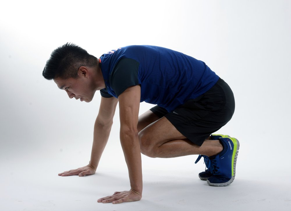 Burpee push up step 5