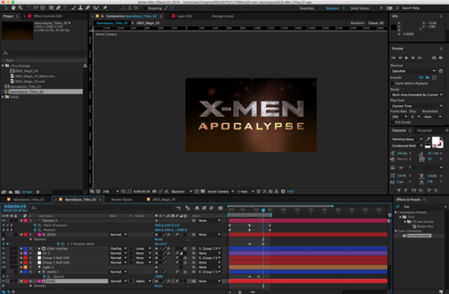 XMen Apocalypse After Effects Template Motion Tutorials - After effects template editing