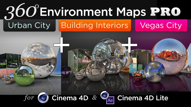 360° Environment Maps Pro for Cinema 4D: ULTRA Bundle — Motion Tutorials