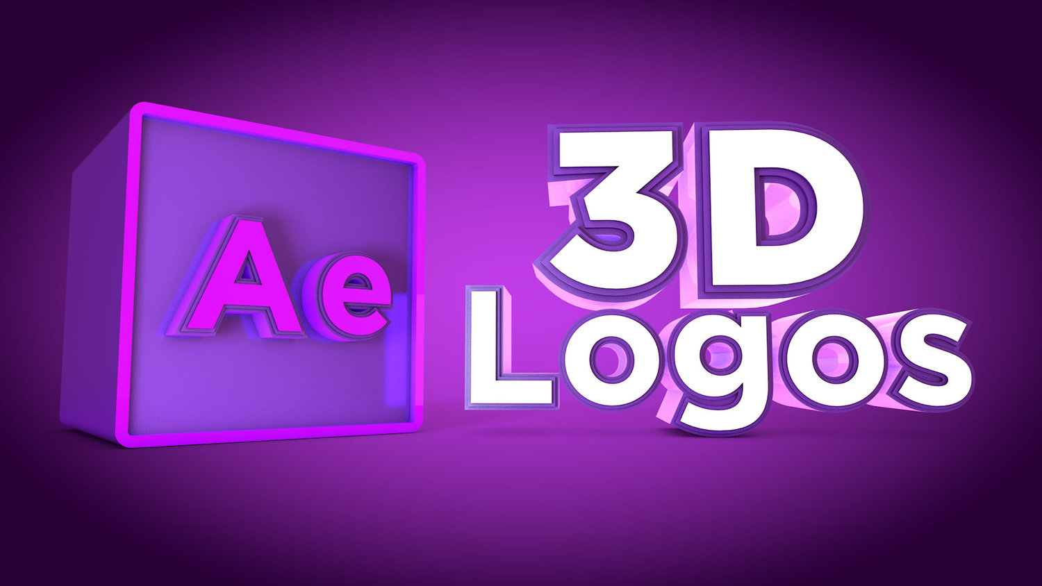 After effects tutorials for motion graphics designers motion create a 3d logo in after effects cc 2017 with the new cinema 4d renderer baditri Image collections