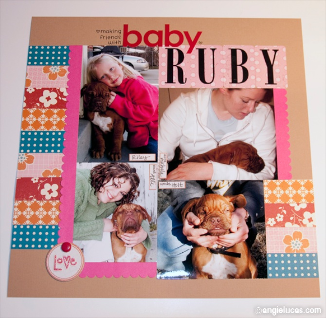 "Tip:  Create a collage of ""baby pictures"" of your pet, with various friends and family members."