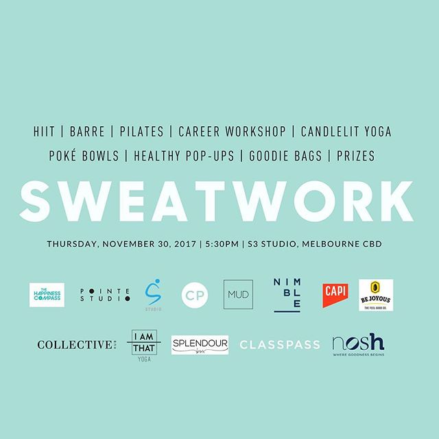 We are 'happy' to partner with @classpassau and a range of other great companies to deliver a thought-provoking and powerful workshop for the new SWEATWORK event in Melbourne on November 30. ⠀ ⠀ Come down and join us and find out more about how The Happiness Compass is making the world a little happier! We look forward to seeing some other amazing partners: @s3_studio @nimbleactivewear @pointestudio @capisparkling @bejoyousprotein @collectivehub @iamthatyoga @splendour_box @noshaustralia @mud_co @classpass ⠀ #happiness #mindfulness #psychology #positivepsychology #emotionalintelligence #resilience #exploration #presence #meaning #purpose #happy #acceptance #freedom #fulfilment #attitude #relationships #success #business #health #wealth #travel #flourish #entrepreneur #startup #socialenterprise #writer #speaker #clothing #workshop