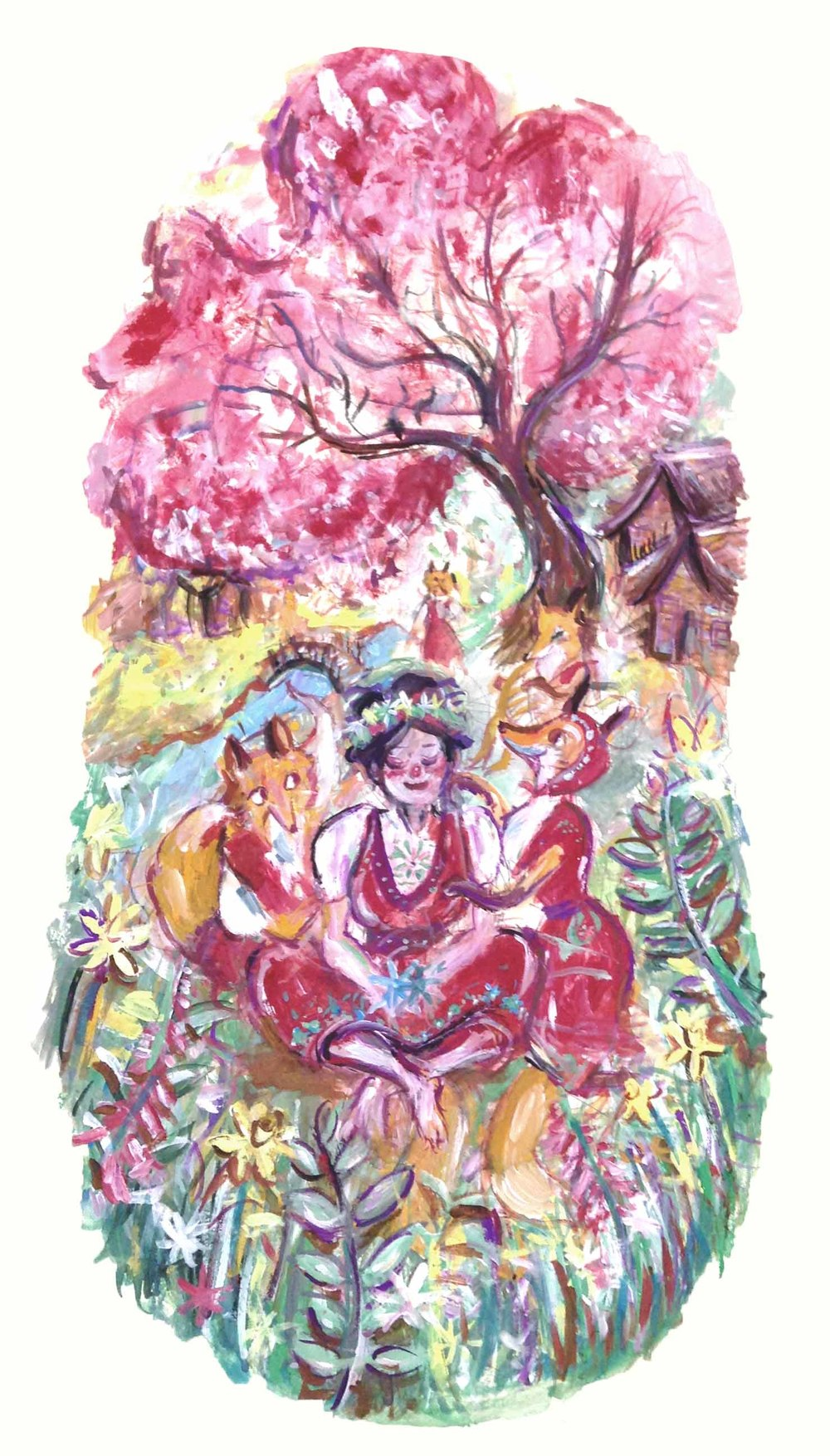 Illustration based off of Margaret Cavendish's 'The Blazing World'.