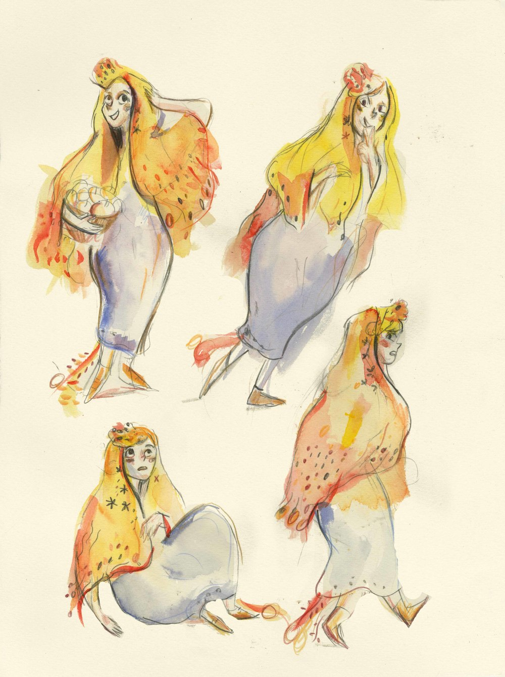 Character design's for 'Ivana and the Firebird'.