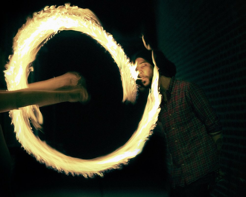 United State of Flow - Fire Poi Dancers