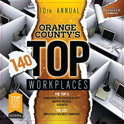 O.C. Top Workplaces   The Orange County Register  December 7, 2017