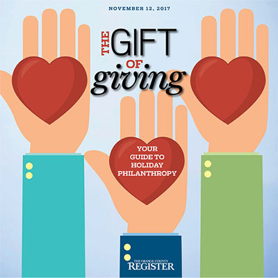 Gift of Giving   The Orange County Register  November 12, 2017