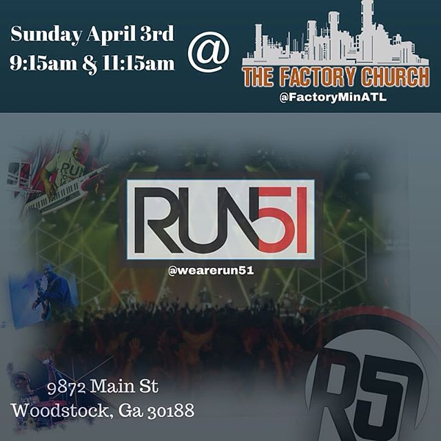 Don't forget about tomorrow! Worship with us! #wearerun51 #run51 #atlanta #hotlanta #squad