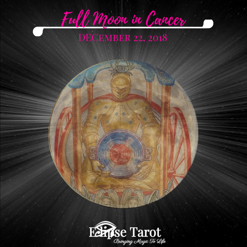 The last Full Moon of 2018 happens in the sign of Cancer on December 22nd, 2018. Here I'll share my take on the energies of this Full Moon, including my intuitive insight for what's going on in the cosmos (astrological influence) and wisdom from the Major Arcana Tarot Card aligned with this zodiac sign + the card aligned with this part of the Universe, so you can  leverage this collective energy and move thru this phase with greater confidence, prepared and aligned with the vibes!