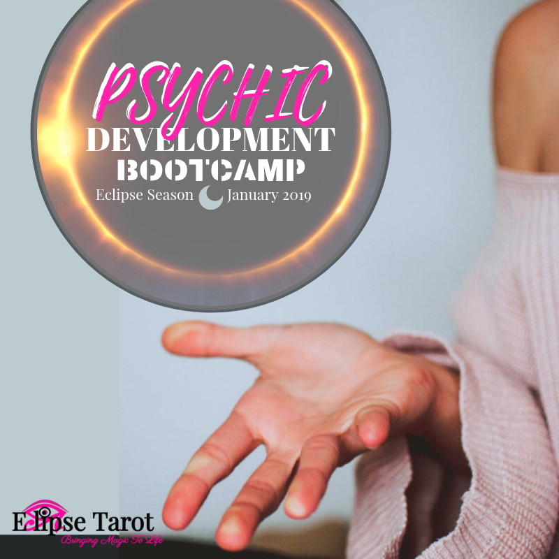 Start the New Year with an edge! - Psychic Development Bootcamp is a 21-day program to super-charge your psychic powers during the Eclipse Season. Learn More here.