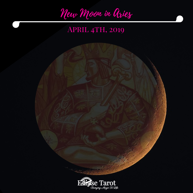 With this  New Moon in Aries  (Decan II) aligned with the  3 of Wands , we can be proactive and willing to fight or stand-up for something that we believe to be absolute truth. With Mercury newly direct and all planets moving forward at this time, we can feel ready to make a power move, but we must be willing to act from a place of integrity and higher standards, considering not only what is in our own best interest, but in the best interest of others as well. It's important to be realistic when considering exactly what it will take to create something new, and of higher quality than we've known before.