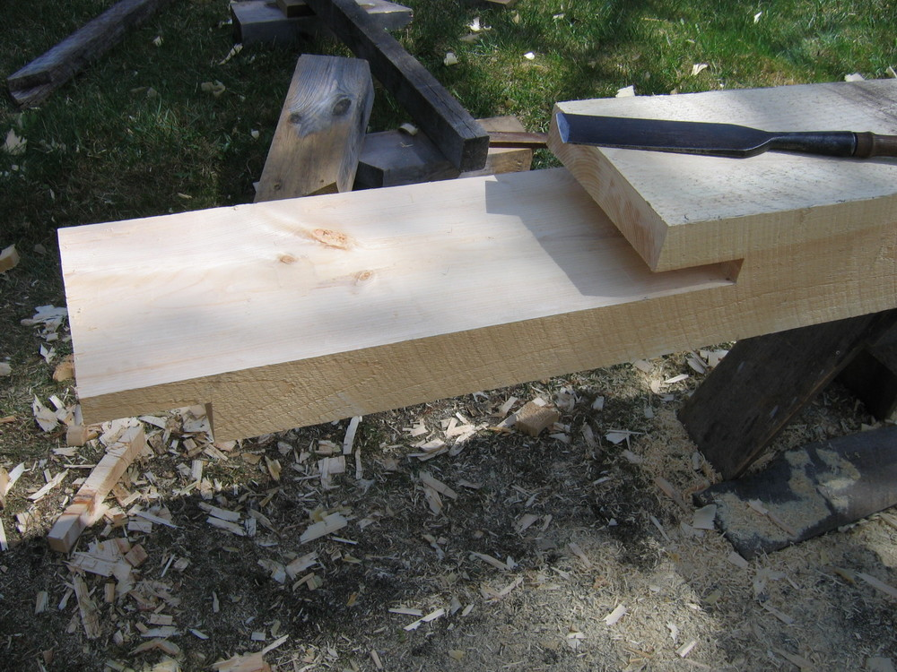 Scarf joint detail
