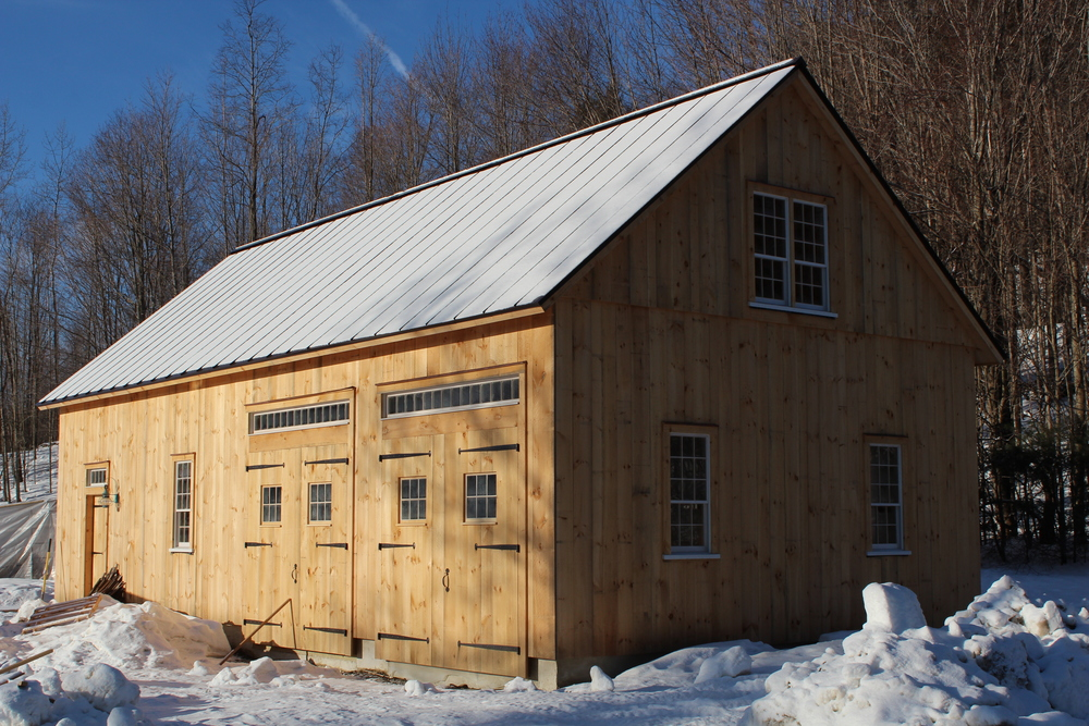 Timberframe barn, Ashfield MA