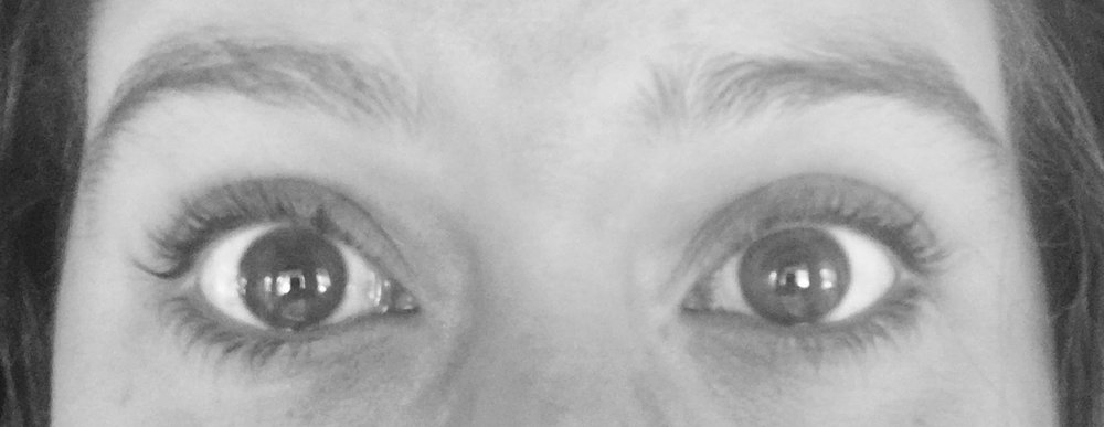 One use on left eye after a few hours. No mascara.