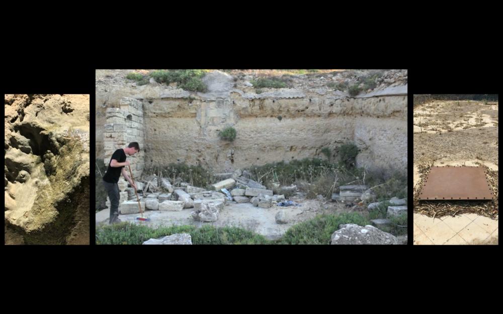 Brett Swenson, La/vora (work/void), still from 3 channel video, 2015