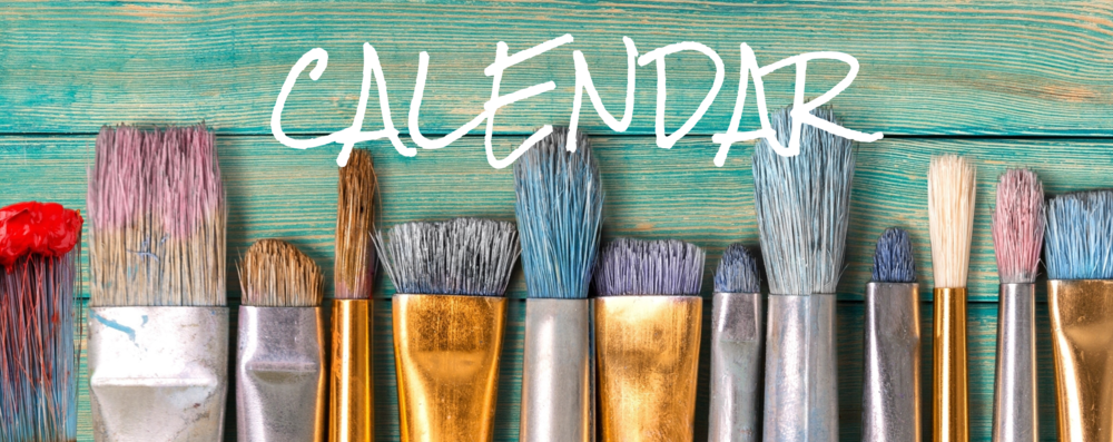 Art Calendar painting brushes art events