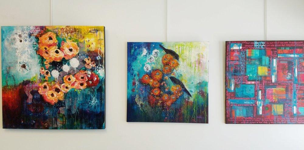 Beautiful paintings by TRAX Art Studios teacher Heather Neiman.