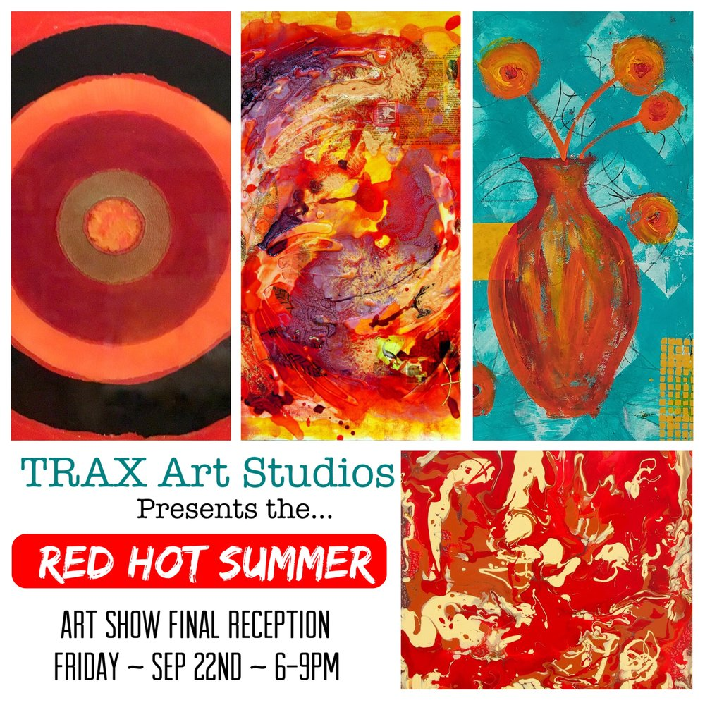 Beautiful paintings by TRAX Art Studios teachers Tristina Dietz Elmes and Tatiana Cast.