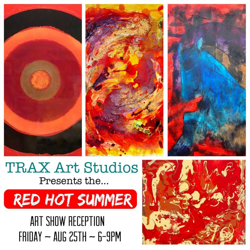 Beautiful paintings by TRAX Art Studios teachers Tristina Dietz Elmes and Tatiana Cast.