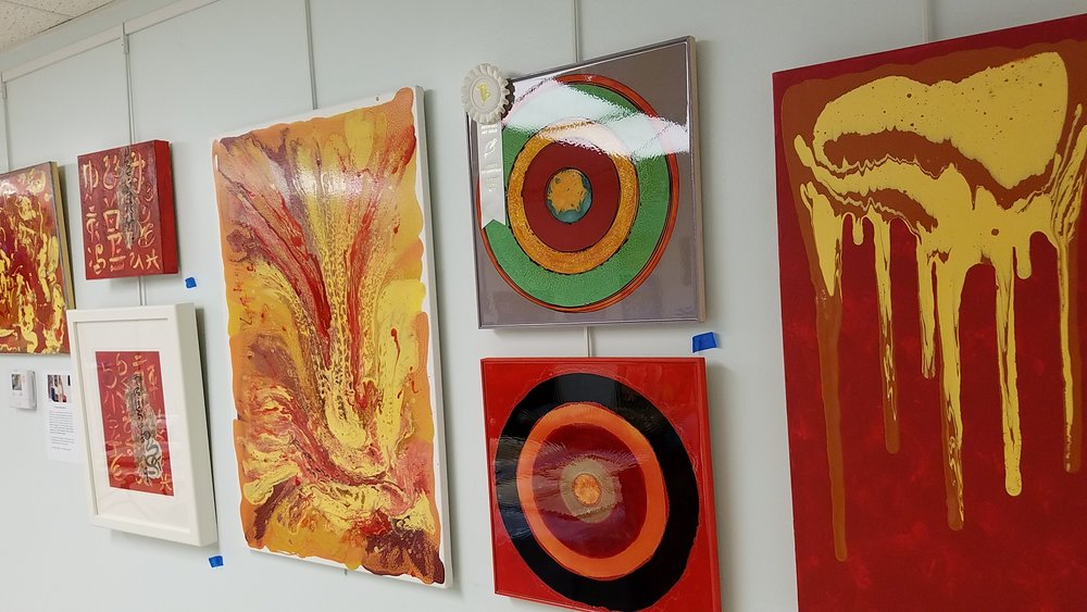 Beautiful TRAX gallery wall artworks by Tristina Dietz Elmes.