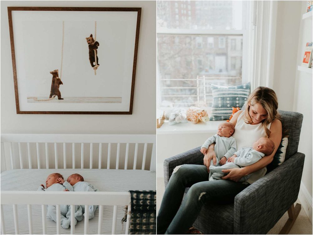 Brooklyn in home family twin newborn photography_Becca Olcott Photography