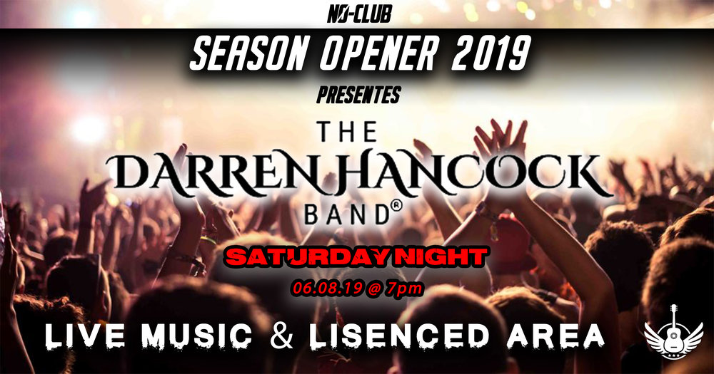 LIVE MUSIC & 19+ Licensed Area - The Darren Hancock Band, a well known cover band that regularly performs at venues such as The Ranch in Guelph; is going to be providing live music for our campers Saturday Evening starting at 7pm under the Pavilion. The fenced off area will also be home to a 19+ liquor licensed area with bartenders keeping the drinks flowing.Disclaimer: N0-Club and its affiliates do not condone driving under the influence, over-consumption of alcohol, or underage drinking. Individuals will be personally responsible for themselves and N0-CLUB or Jukasa Motor Speedway reserve the right to refuse entry, service or participation to ANY individual that they deem under the influence or a danger to themselves or the public.