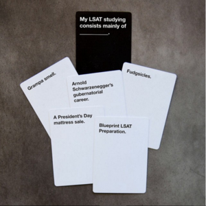 Blueprint lsat greg nix cards against humanity poster created for campus advertising and social media malvernweather
