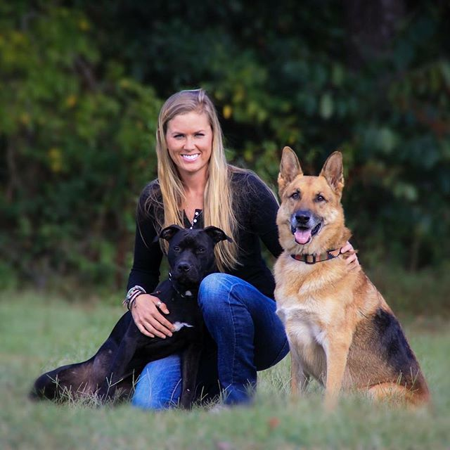 With my two pups, Xena and Gus. 🐶🐶❤️ #southerncanine #dogtraining #lafayettela #batonrouge #dogs #furbabiesofinstagram #germanshepherdsofinstagram #pitbullsofinstagram
