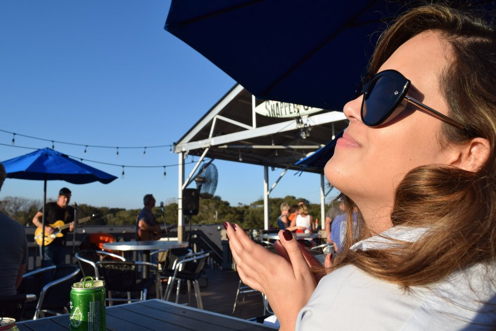 I dont know what I was clapping for, probably the taste of the oysters :)