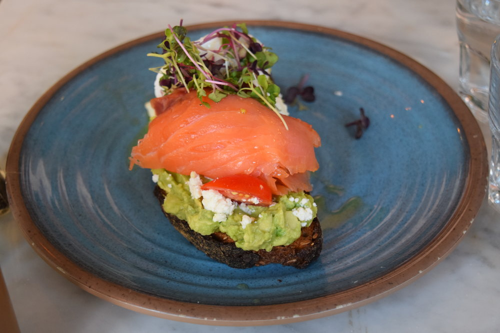 This Avo Toast with salmon, poached egg & feta cheese stole the show. I wish I could have it right now!