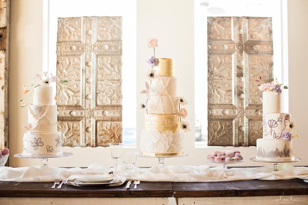 www.alantephotography.com | Lilac Cake Boutique Metallic Cakes | Anemone Cakes | Alante Photography