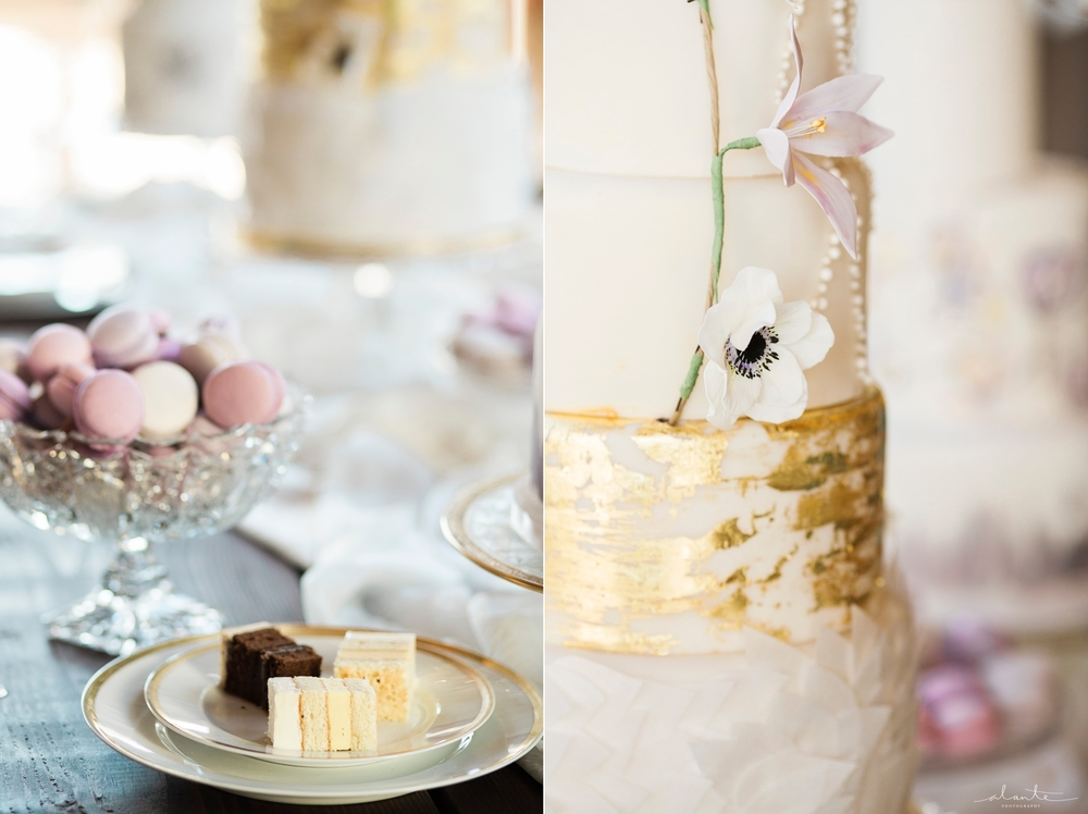 www.alantephotography.com | Anemone cakes and purple macarons | Lilac Cake Boutique | Alante Photography