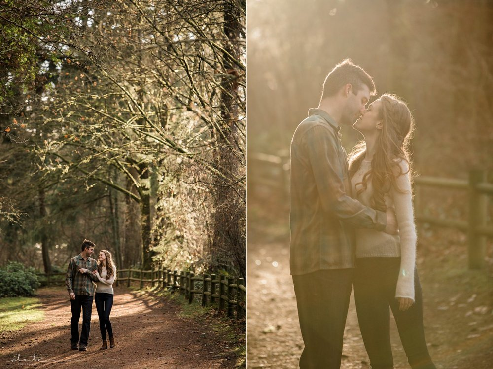 Magical PNW Forest light in a Seattle Engagement Photos by http://www.alantephotography.com
