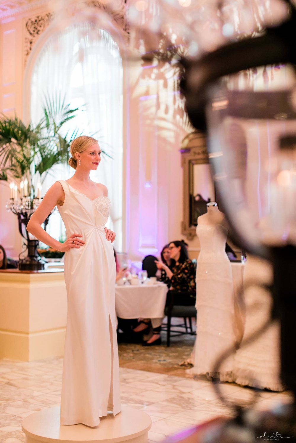 Luly Yang couture wedding gown at Fairmont Olympic