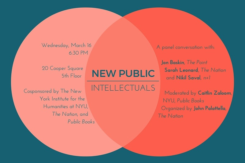Flyer for  New Public Intellectuals