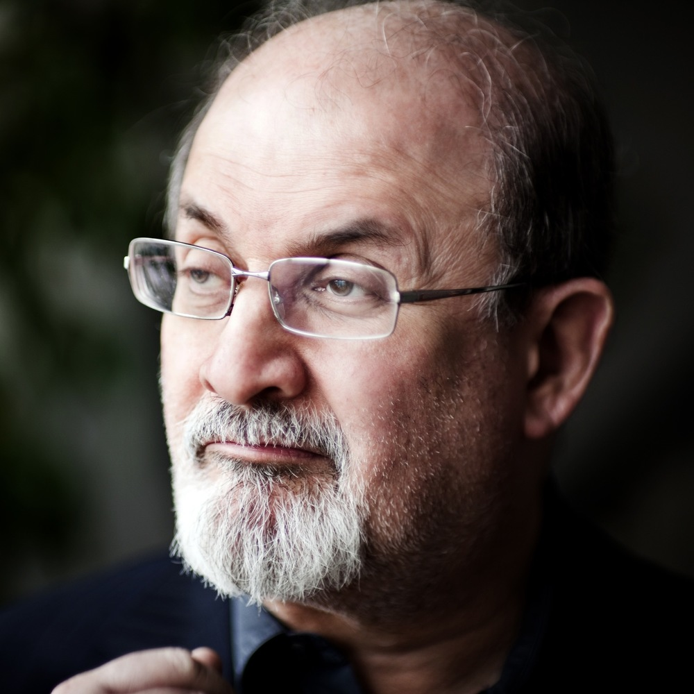 Photo of Salman Rushdie by Syrie Moskowitz