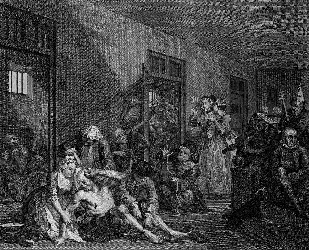 William Hogarth's A Rake's Progress (Plate VIII), 1734-5. Creative Commons.