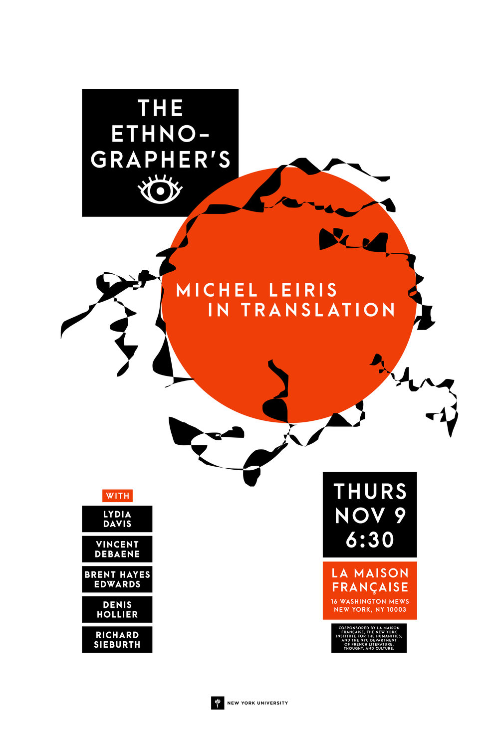 Event flyer for The Ethnographer's I