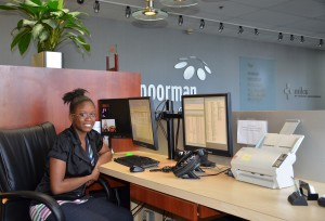Our Providence Cristo Rey intern Janese joins us one day a week at the front desk