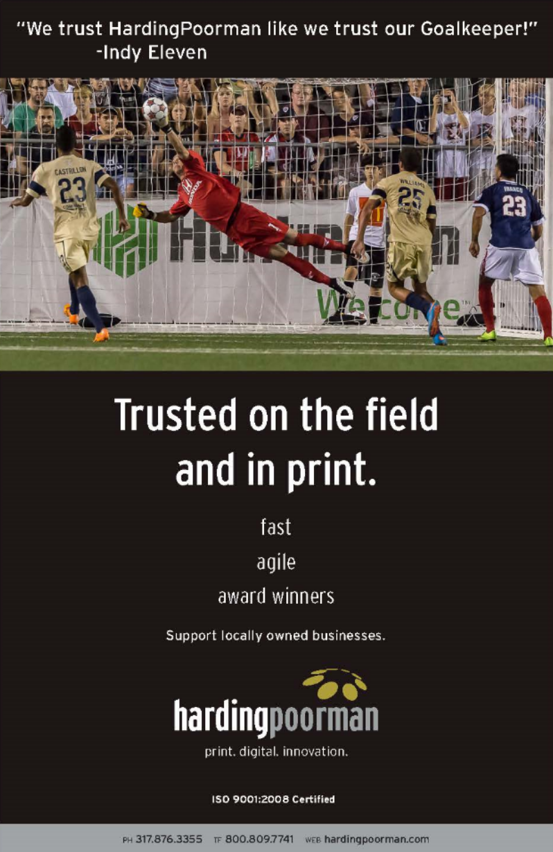 Indy Eleven Program. Trust Ad.