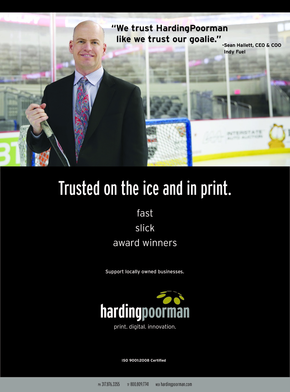 Indianapolis Business Journal.Indy Fuel. Trust Ad.