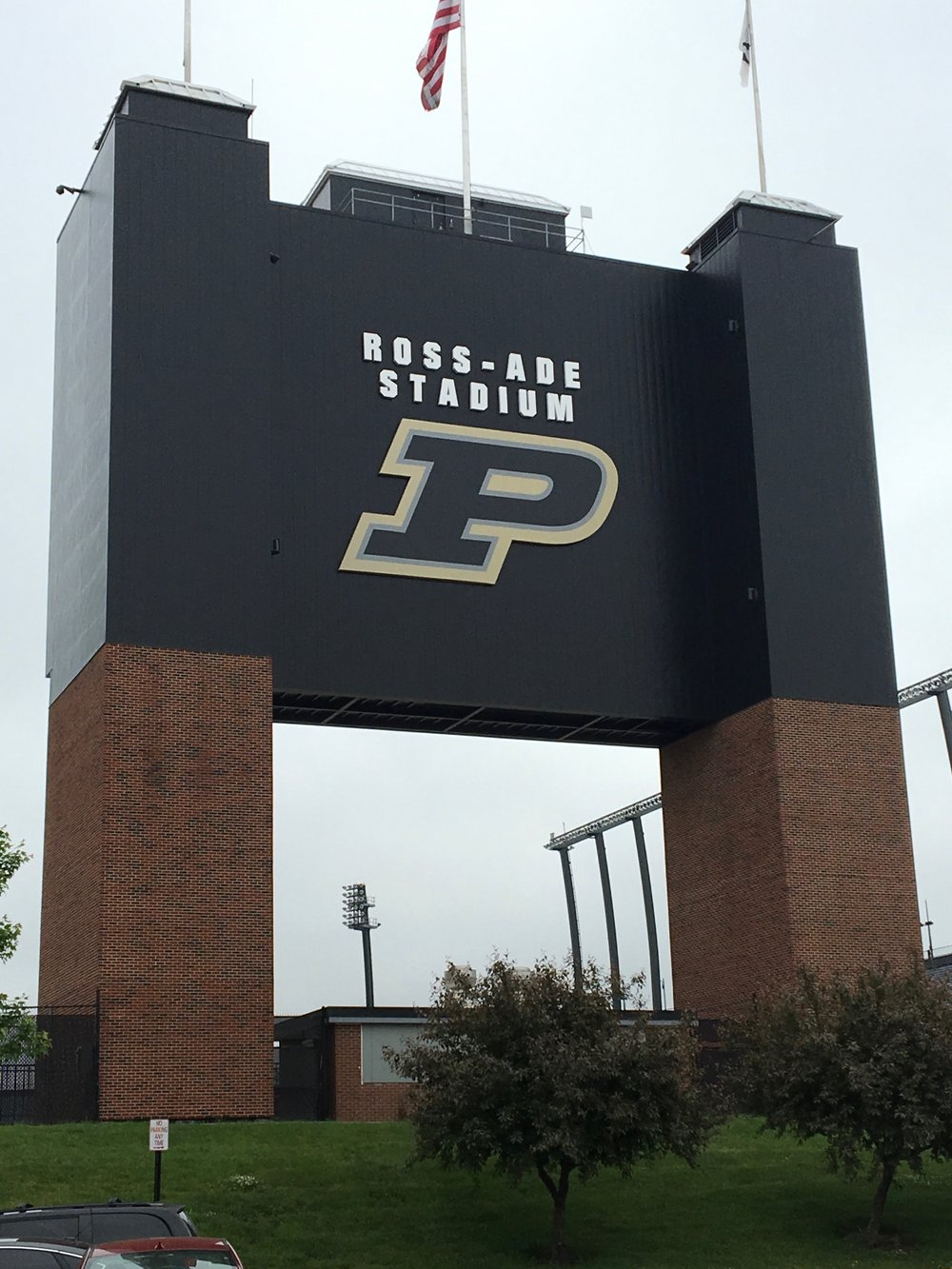 AFTER - Transformation to a sophisticated sports marketing look.  Signage proudly reflects Purdue's brand and purpose.