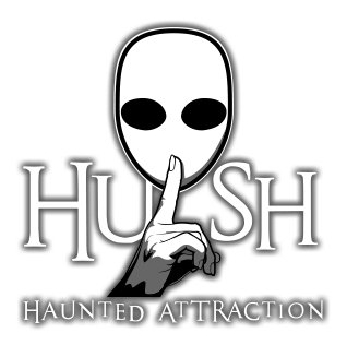 HUSH Haunted Attraction logo.