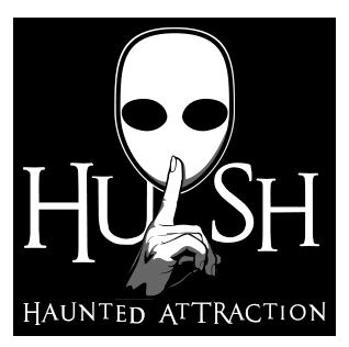 HUSH Haunted House logo