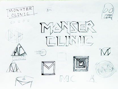 Monster Clinic Logo Sketches