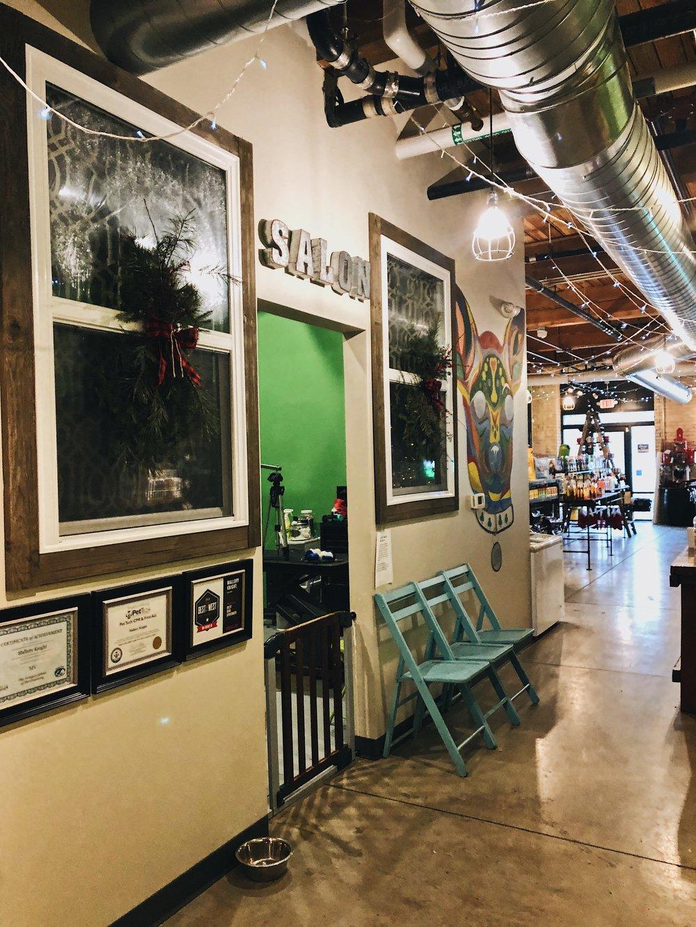 Salon station looking fresh.