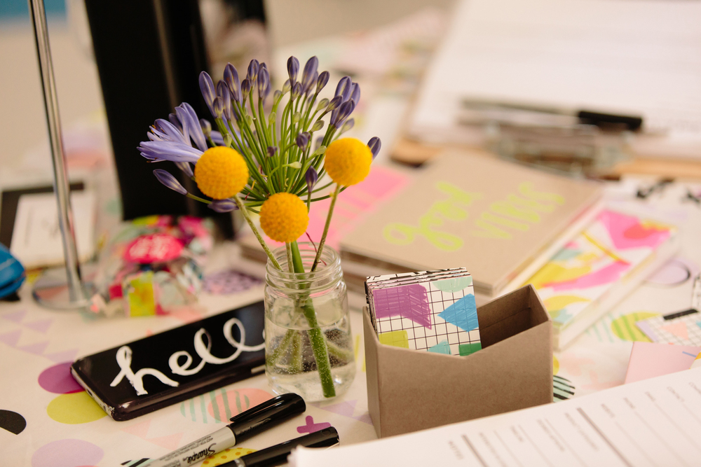 Gorgeous, bright and graphic goodies on Ampersand's table display.